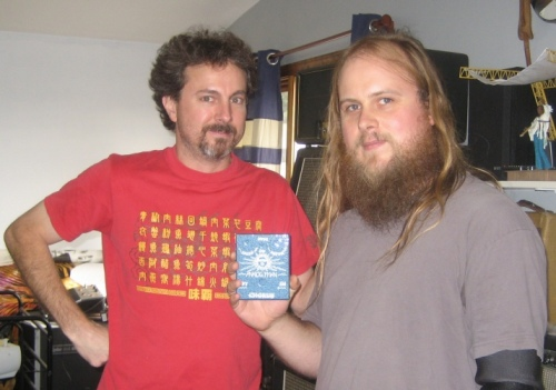 Wes with Analog Mike at the Analog Man HQ