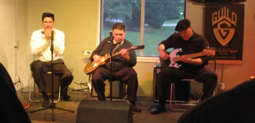Bob Corritore, Patrick Rynn and Chris James at Fat Tone